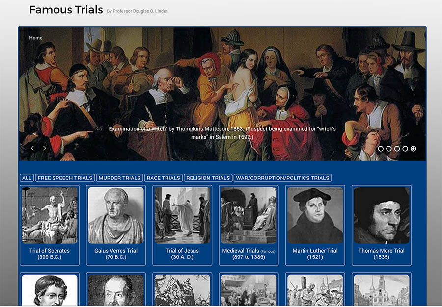 Famous Trials Home Page